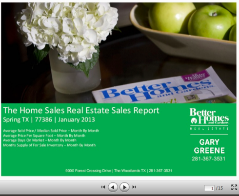 Real Estate Home Sales Reports