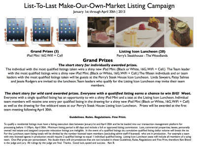 List-To-Last Make-Our-Own-Market Listing Campaign