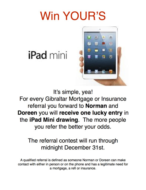 Gibraltar iPad mini contest