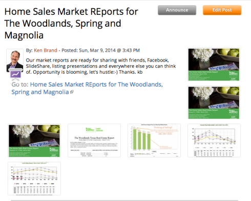 Home Sales reports for The Woodlands, Magnolia and Spring TX.