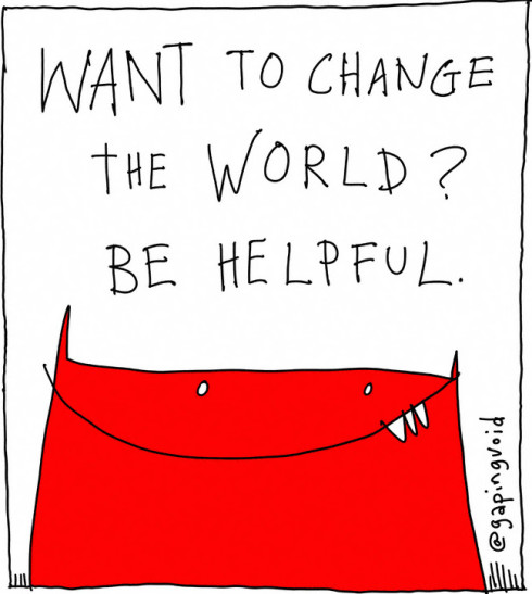Want to change the world? he helpful. @rackspace