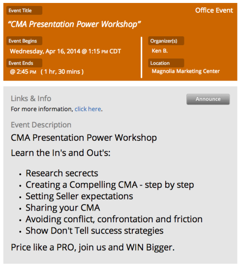 CMA Workshop