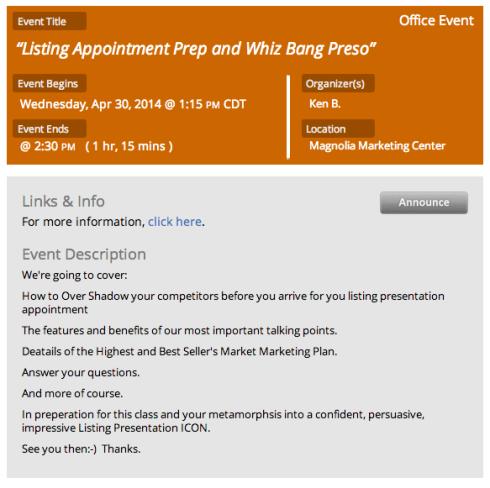 Listing Appointment Preparation